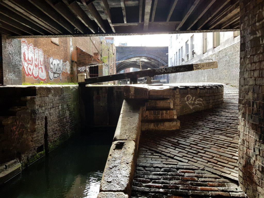Lock on the Fazeley Canal in Birmingham