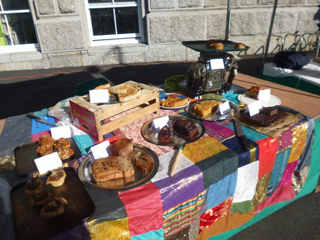 Cakes at Penzance farmers market