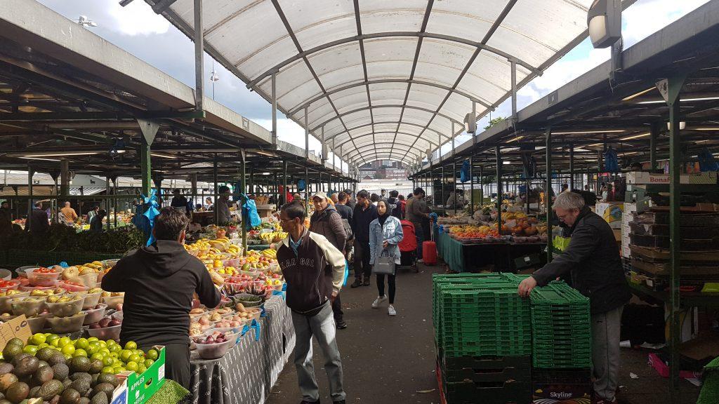 Bullring outdoor market in Birmingham