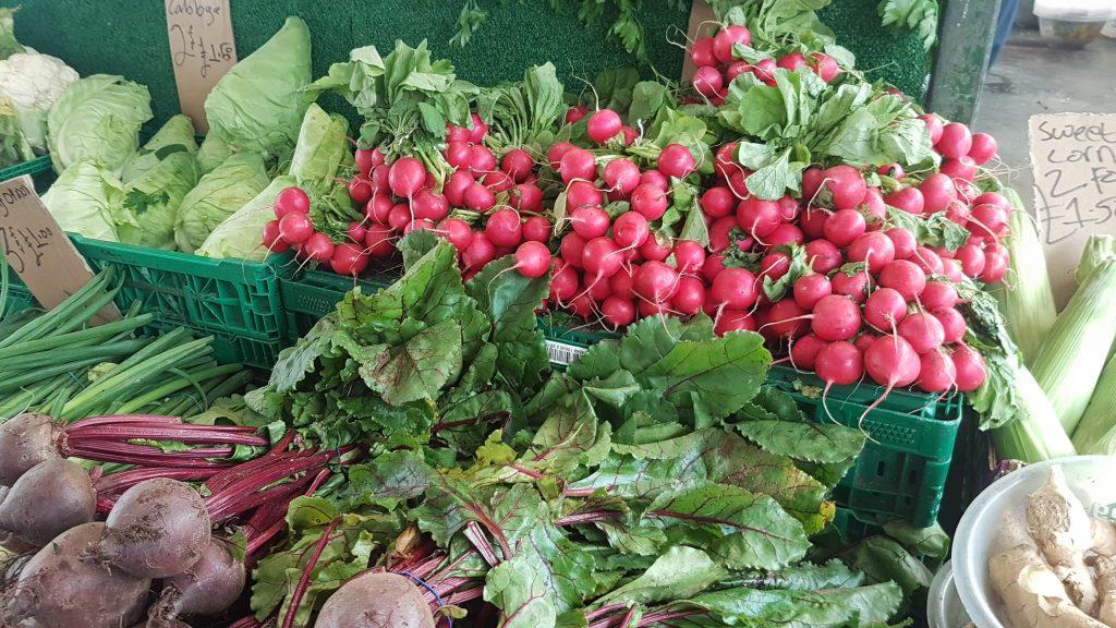 Radishes at The Bullring Market