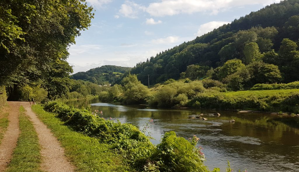 River Wye Upstream of Redbrook, UK