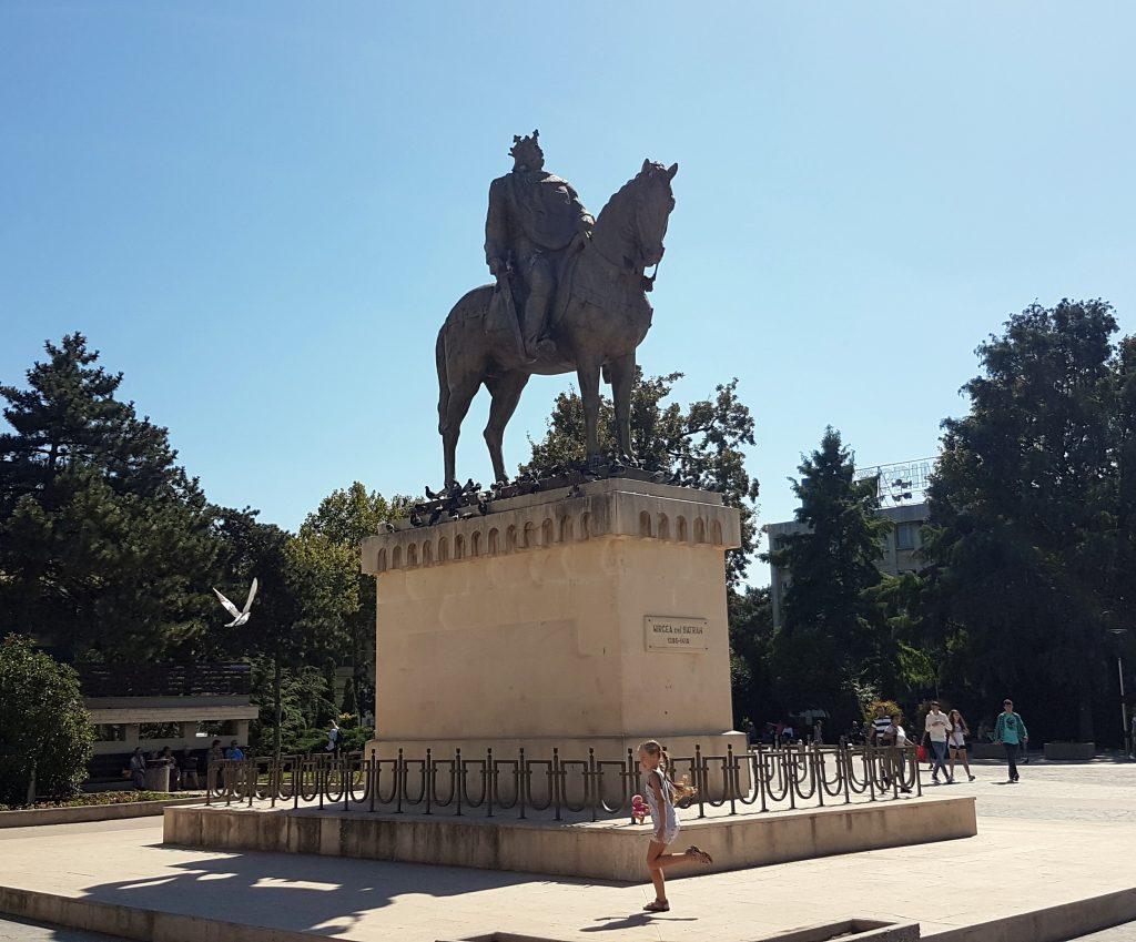 Mircea I of Wallachia, the father of Vlad Tepes (Dracula) Statue