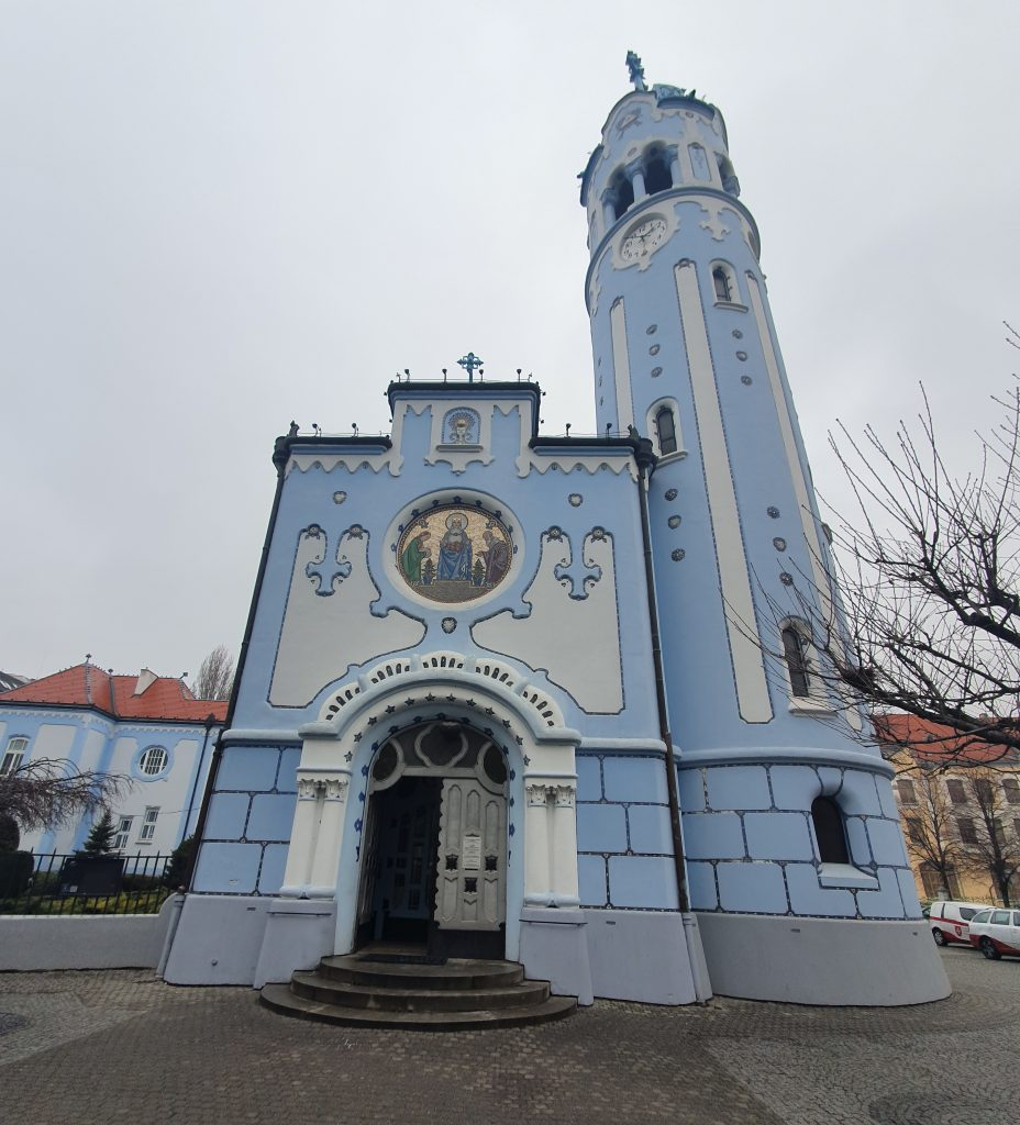 Blue Church From Front