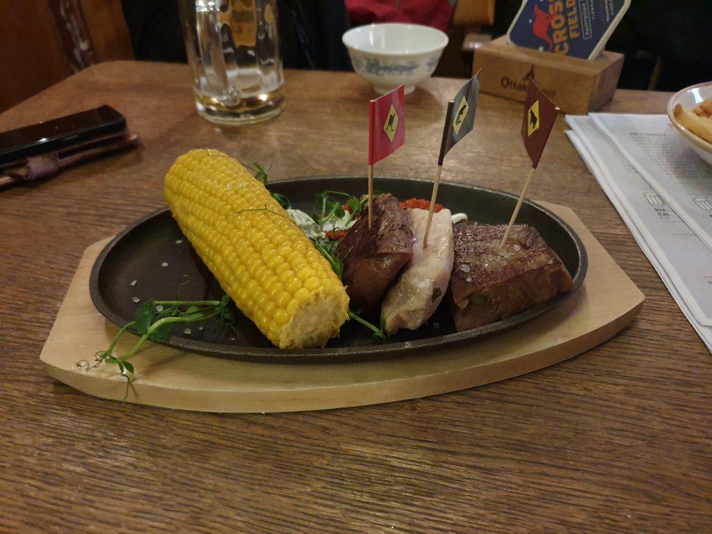 Kangaroo, Crocodile, Grasshopper mixed grill Vienna