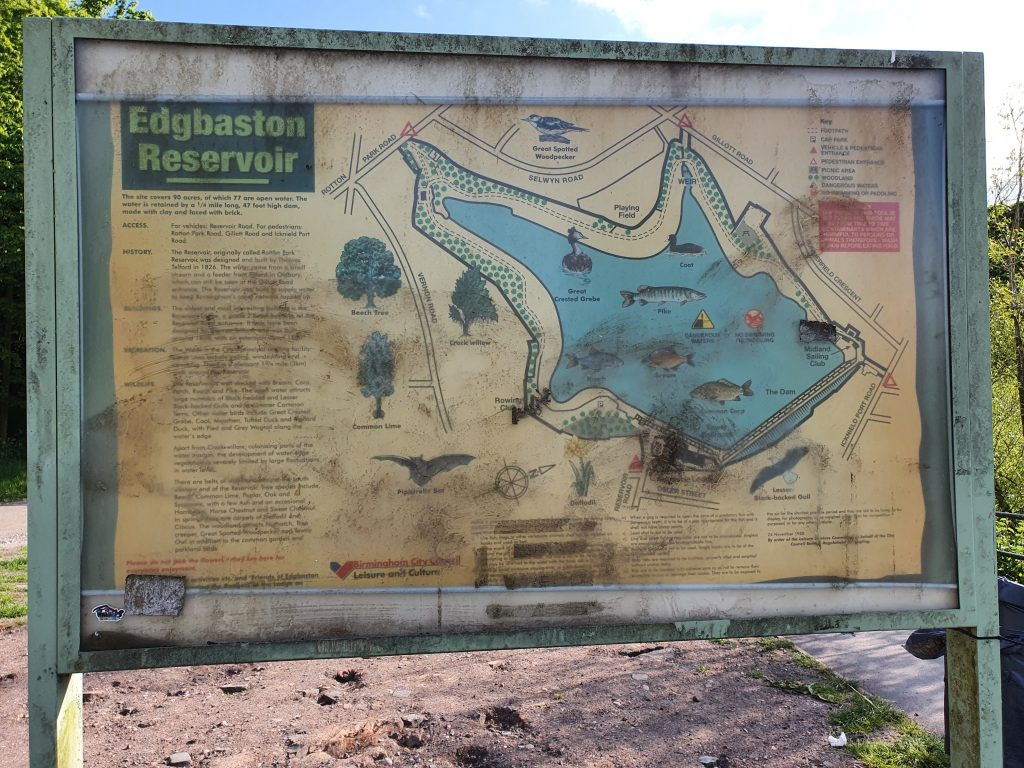 Edgbaston Reservoir Map