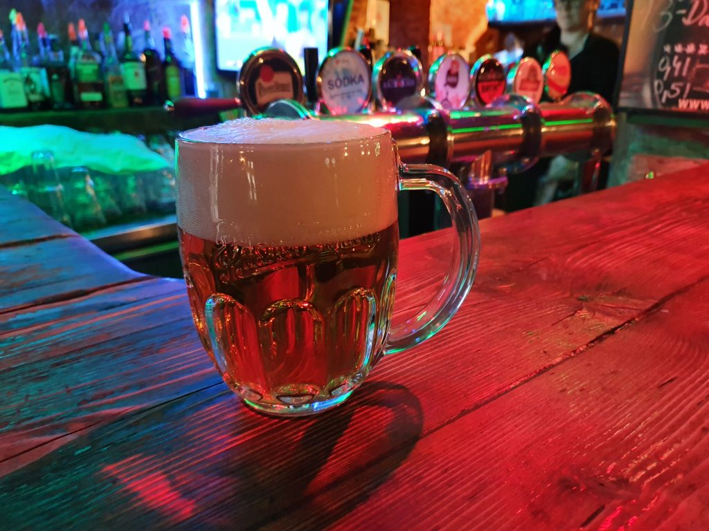 Pilsner at Zbrojnos Pub