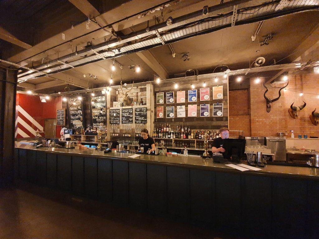 Beer Options at the bar