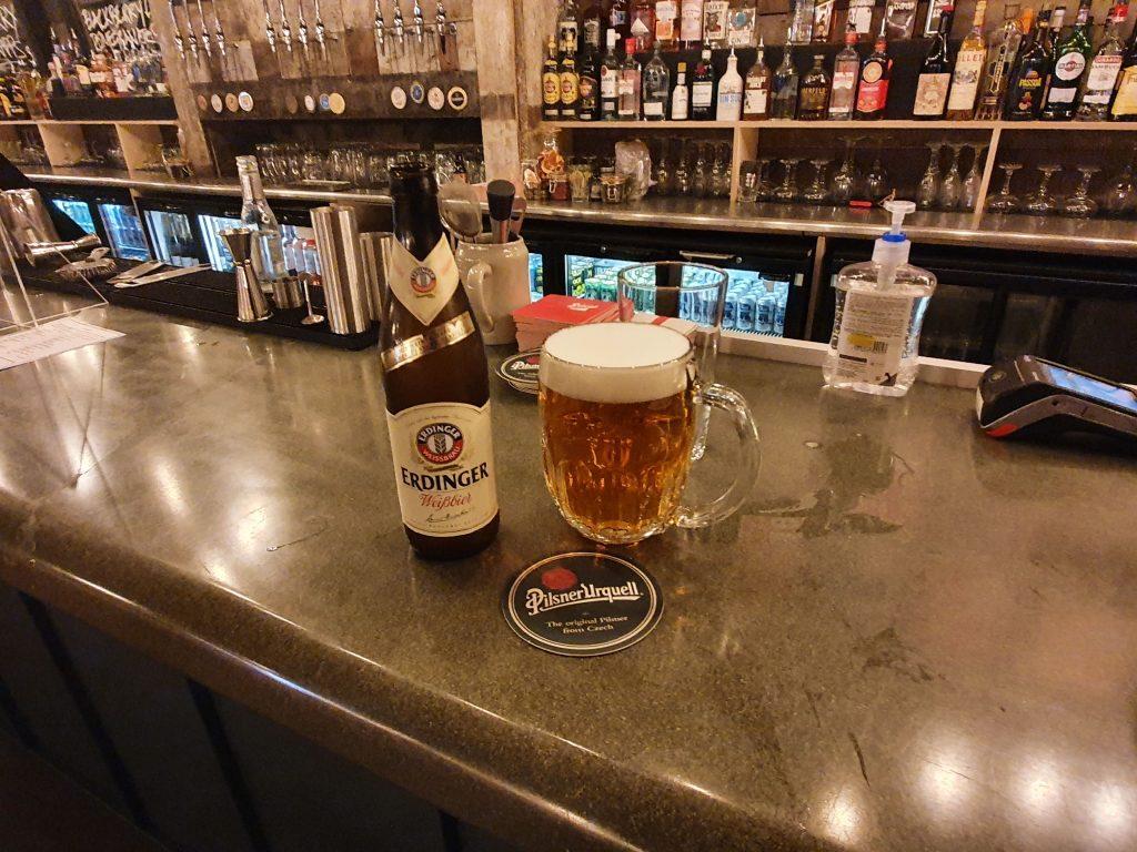 Zumhof Biergarten Birmingham Pilsner Urquell & Erdinger