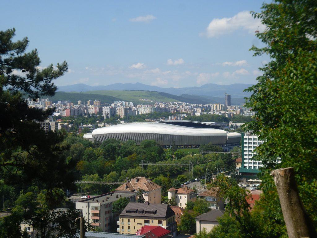 Cluj Stadium taken from Cetățuia Park